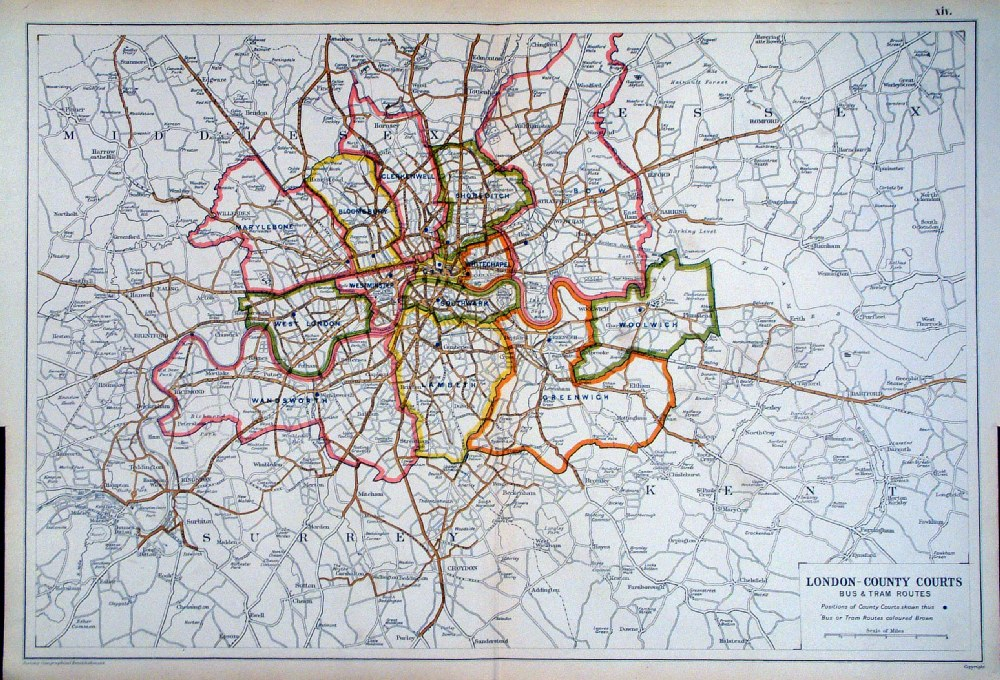 Antique Maps of London (Bacon) on