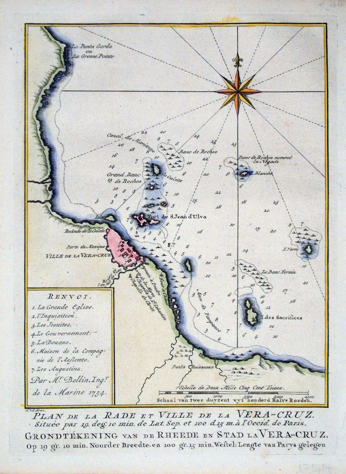 Antique Maps Of Central America - West indies central america 1763