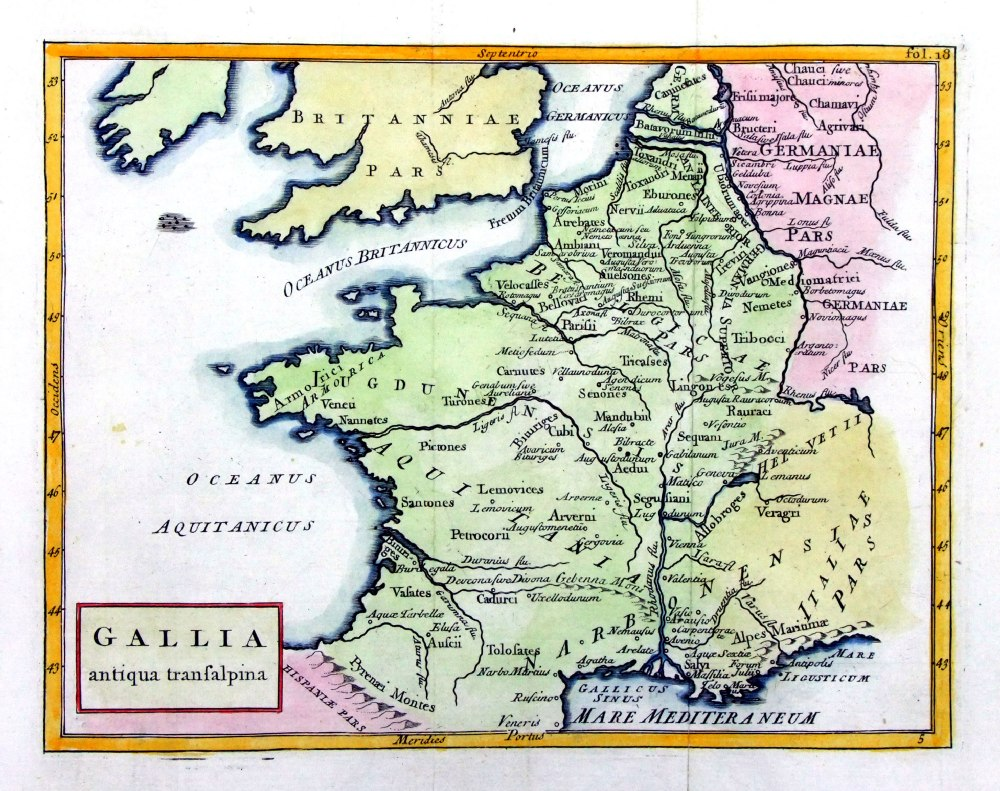 France On A Map Of Europe.Antique Maps Of Europe F