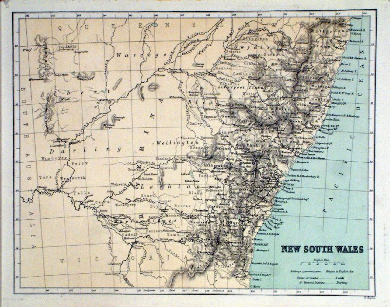 political map of australia with cities. Antique Maps of Australia, New