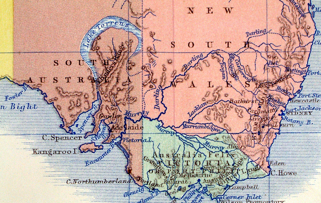 early full colour lithographic printing the 3 main islands of new zealand shown as new munster new ulster new leinster ref lkm006 2400 pp detail
