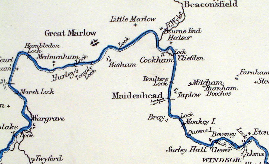 Map Of England Rivers And Canals.Antique River Canal Maps Of Uk General